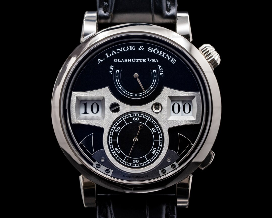 A. Lange and Sohne Zeitwerk Striking Time 145.029 18K White Gold FULL SET Ref. 145.029
