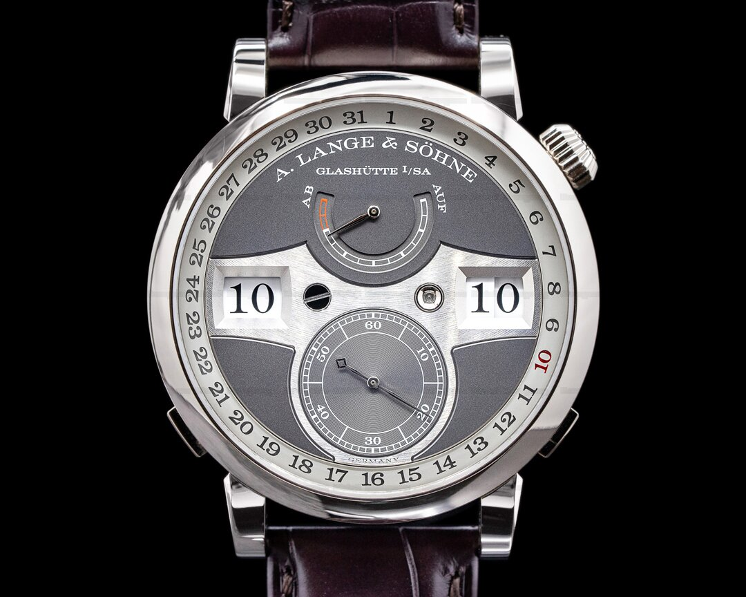 A. Lange and Sohne Zeitwerk Date 148.038 White Gold 2020 NICE Ref. 148.038