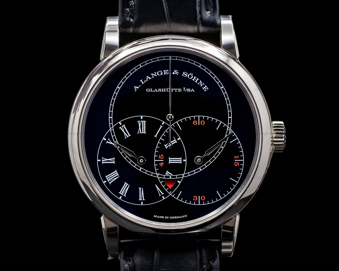 A. Lange and Sohne Richard Lange 252.029 JUMPING SECONDS White Gold Black Dial Ref. 252.029