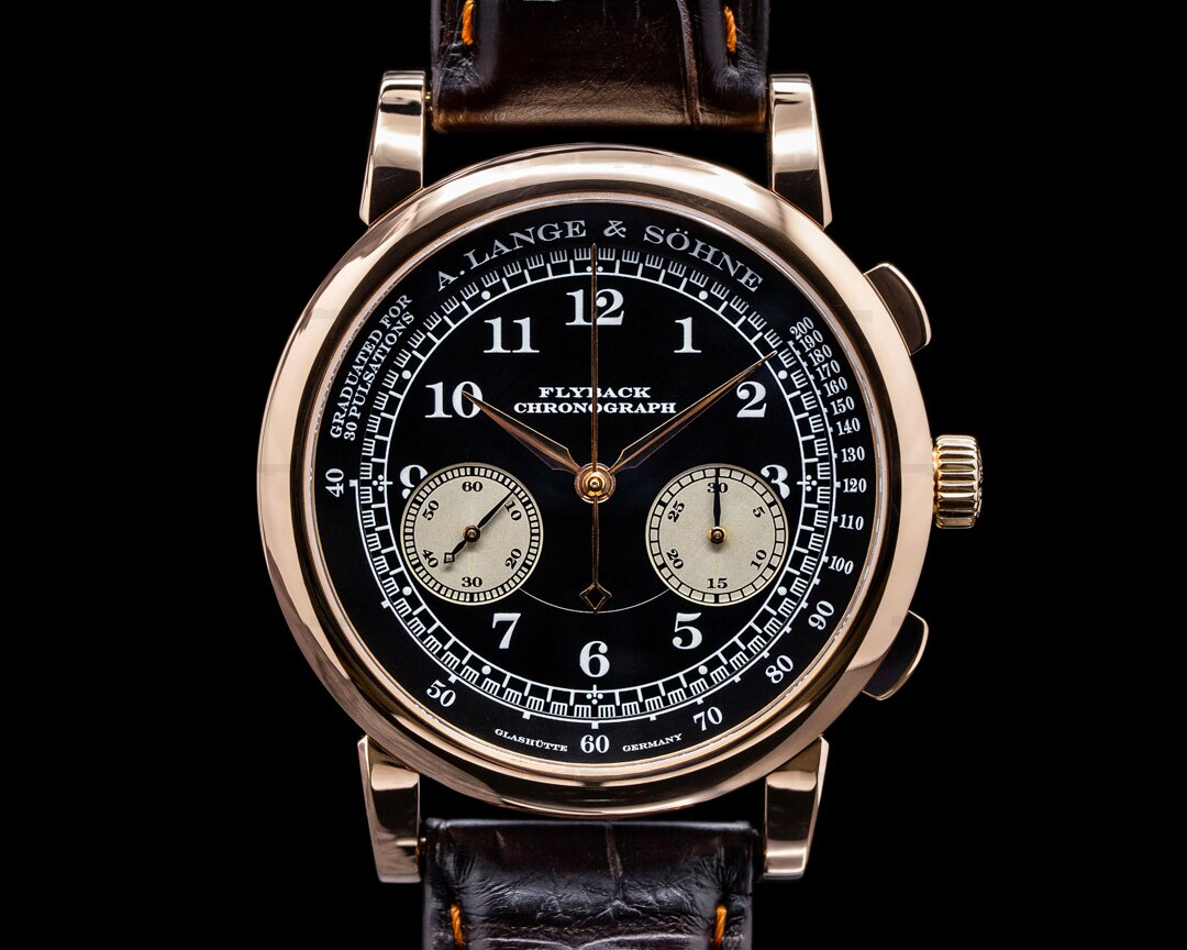 A. Lange and Sohne 1815 Flyback Chronograph Black Dial 18K Rose Gold Ref. 401.031