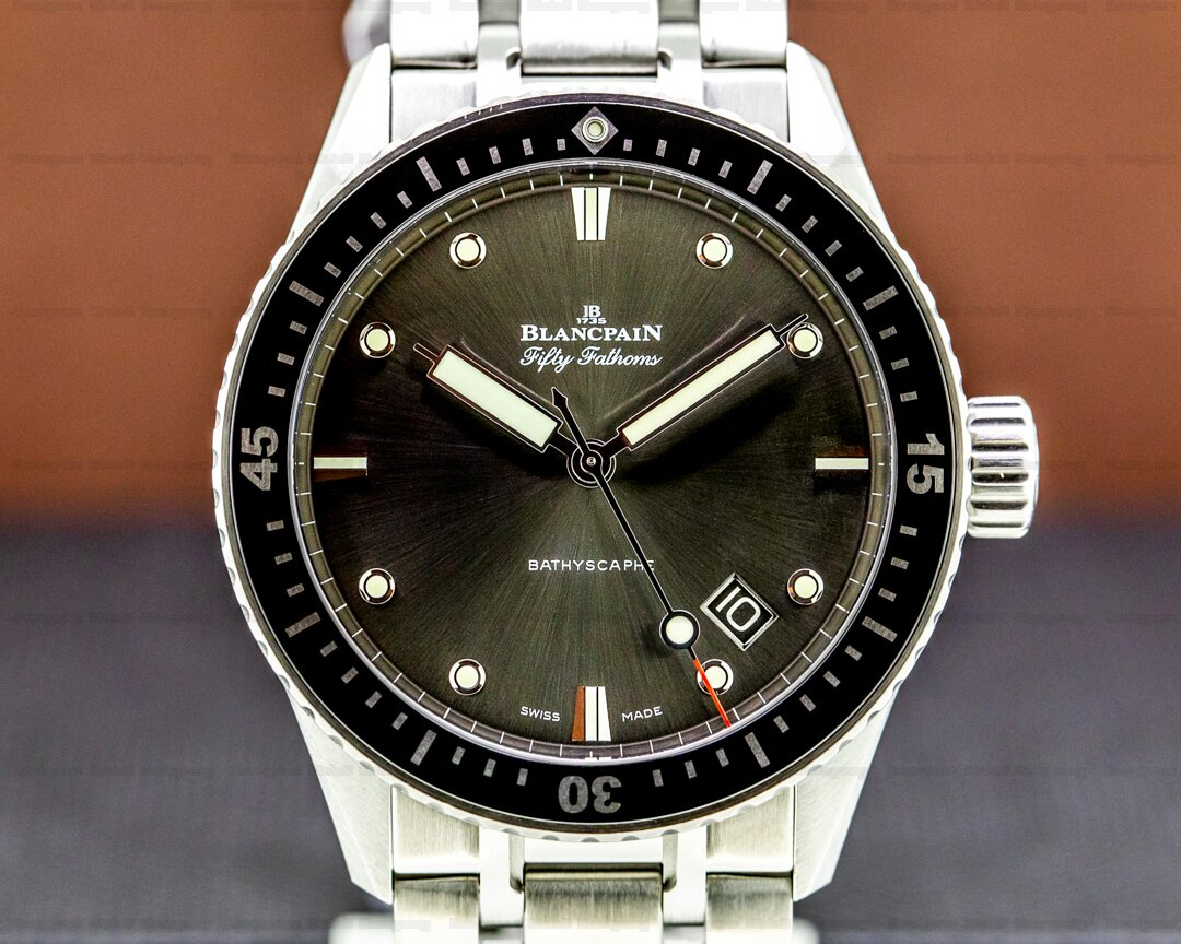 Blancpain Fifty Fathoms Bathyscaphe Automatic SS / Bracelet Ref. 5000-1110-70B