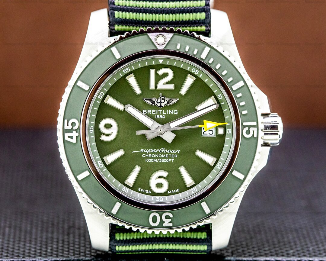 Breitling SuperOcean 44 OUTERKNOWN SS / Green Ref. A17367