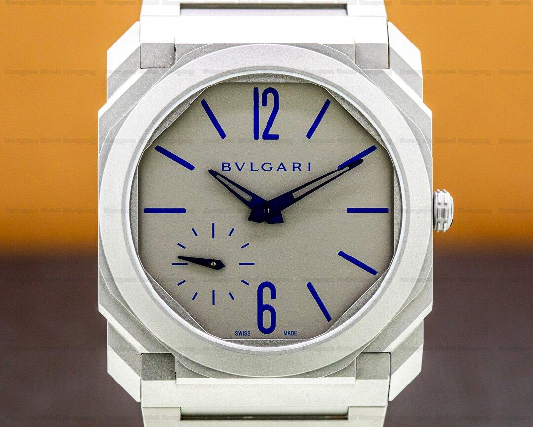 Bvlgari Octo Finissimo Titanium Extra Thin Grey / Blue 40mm LIMITED Ref. BGO40C14TTXTAUTO