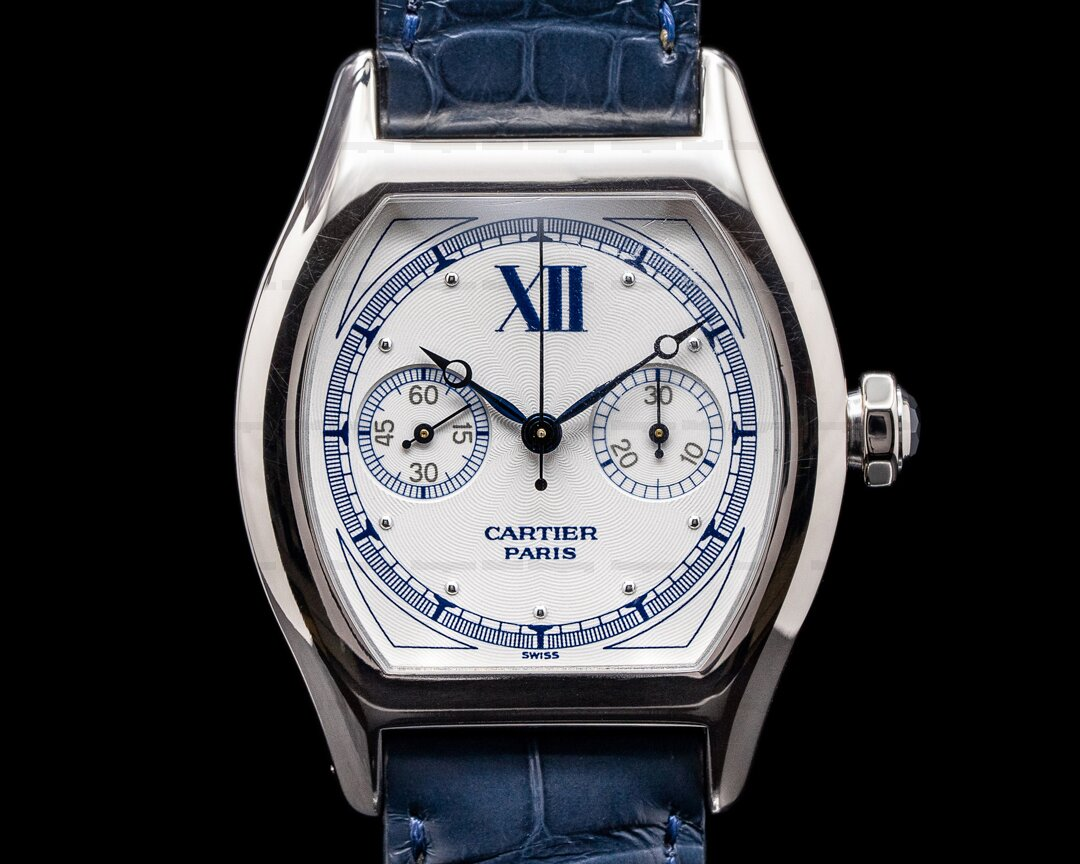 Cartier Privee Collection Tortue Monopoussoir Chronograph 18K White Gold Ref. W1525851