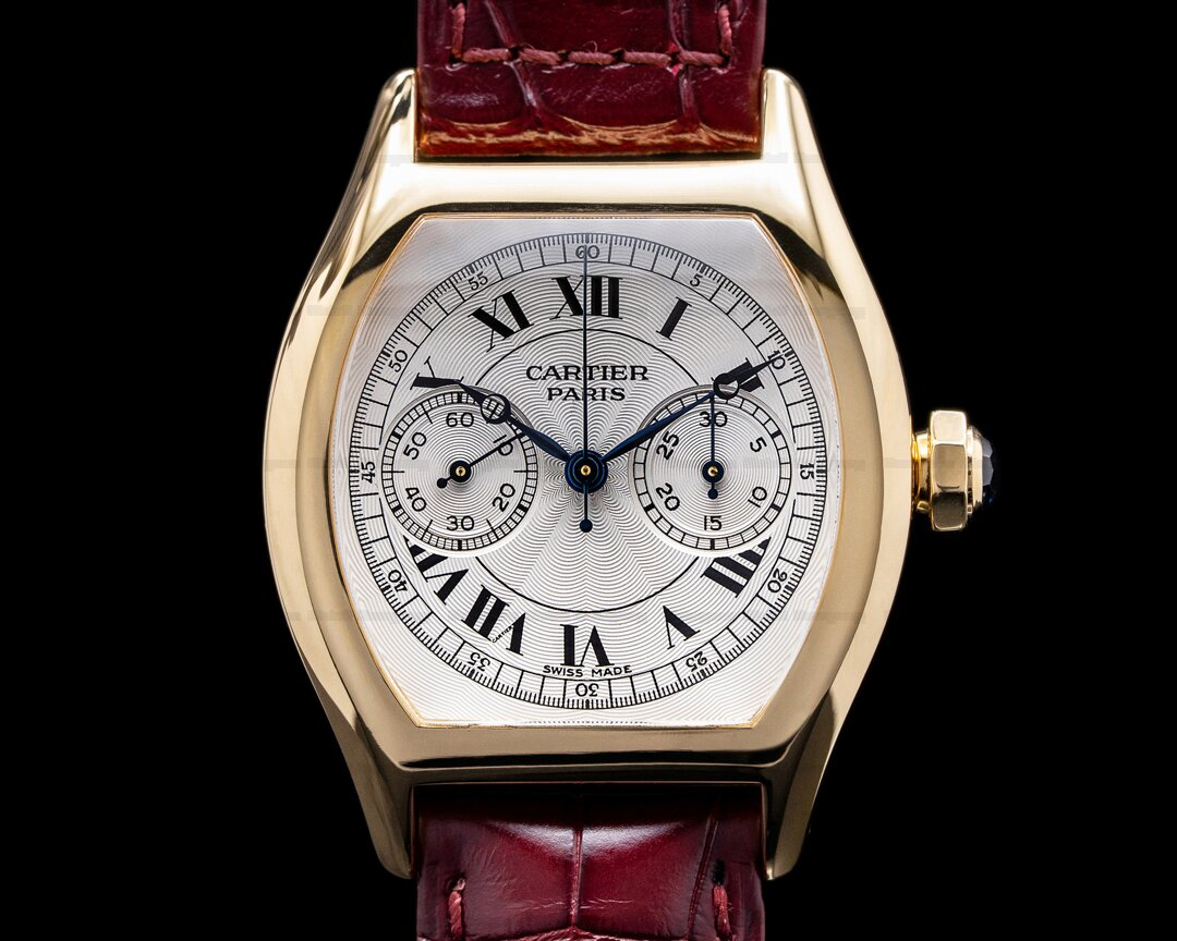 Cartier Privee Collection Tortue Monopoussoir Chronograph 18K Yellow Gold Ref. W1543551