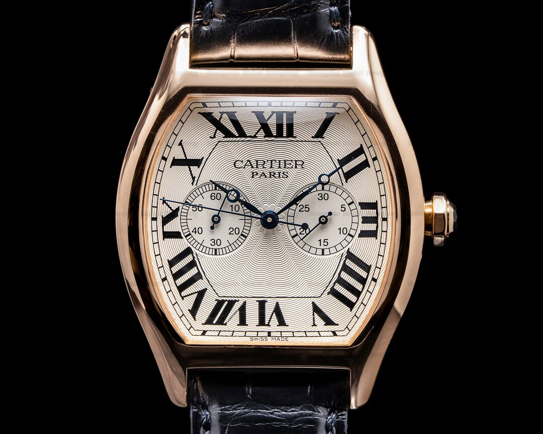 Cartier Privee Collection Tortue XL Monopoussoir Chronograph 18K Rose Gold RARE Ref. W1547451