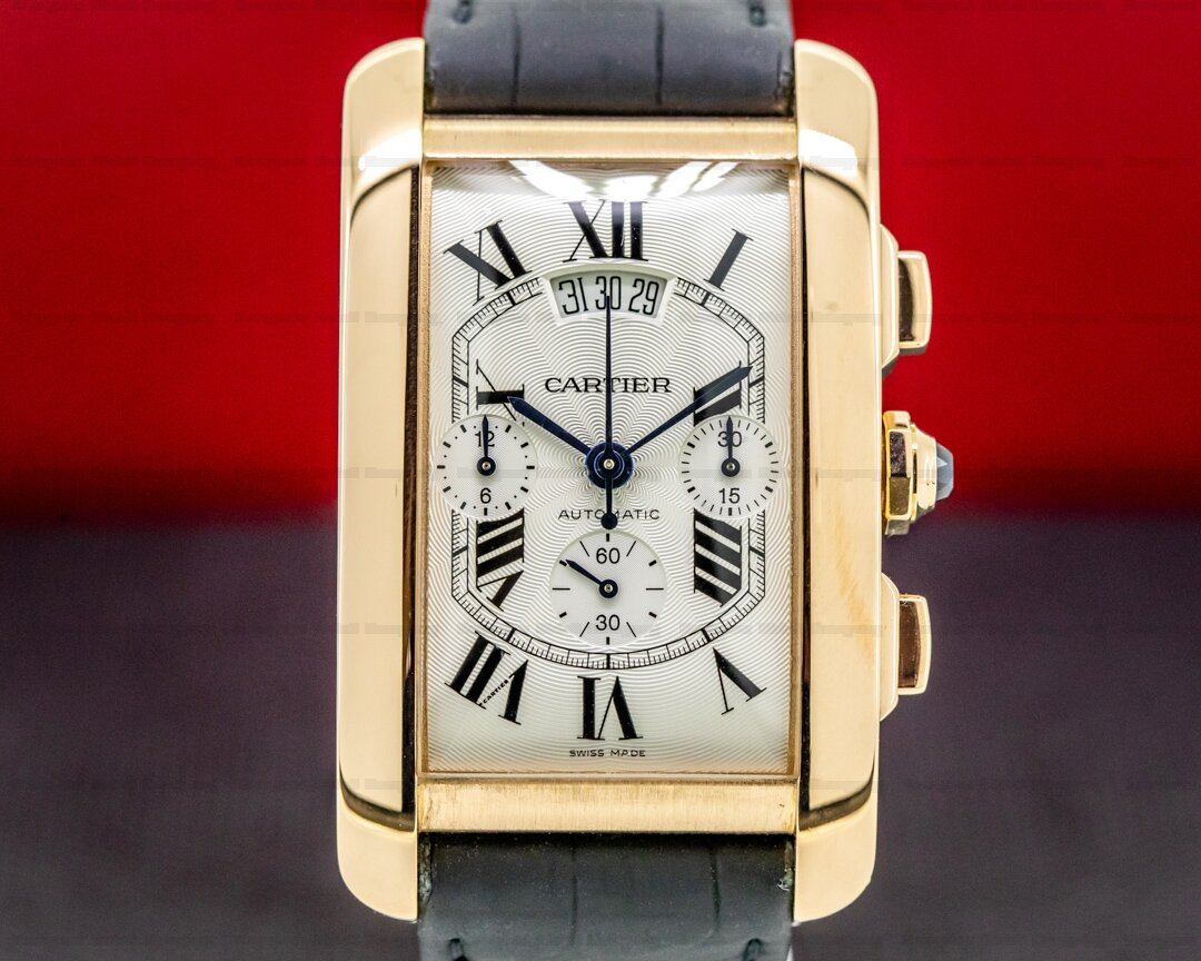 Cartier Tank Americaine XL Chronograph 18K Rose Gold Ref. W2609356