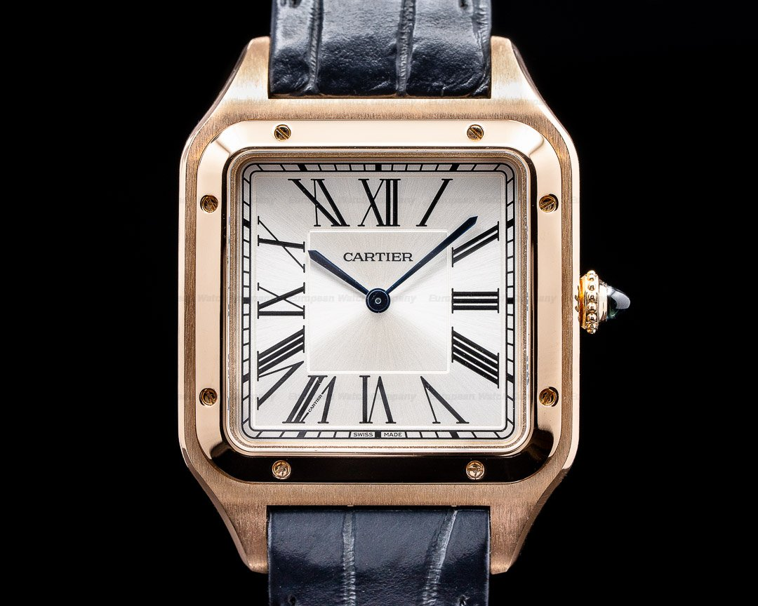 Cartier Santos Dumont XL Rose Gold Manual Wind Ref. WGSA0032