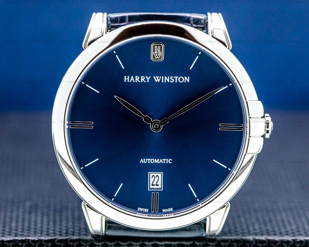 Harry Winston Harry Winston Midnight Blue Dial 18K WG 2020 Ref. MIDAHD39WW002