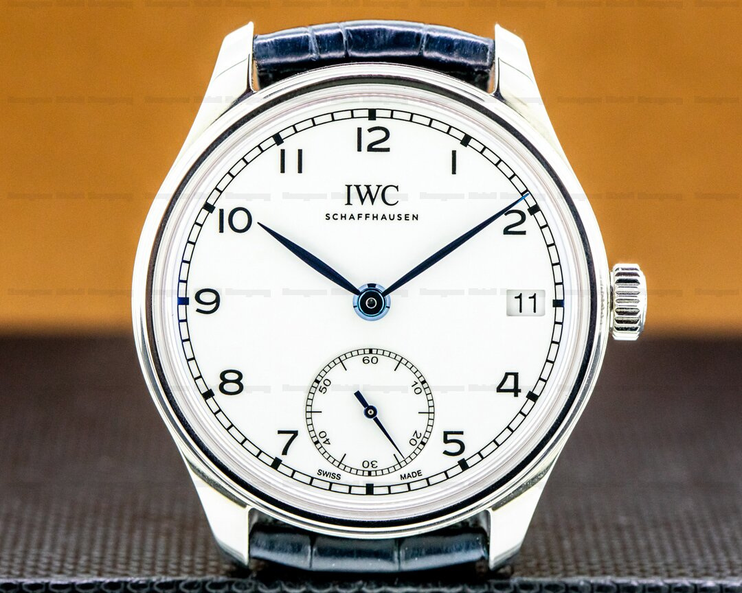 IWC Portuguse Hand Wound 8 Days Stainless Steel 150 Years Ref. IW510212