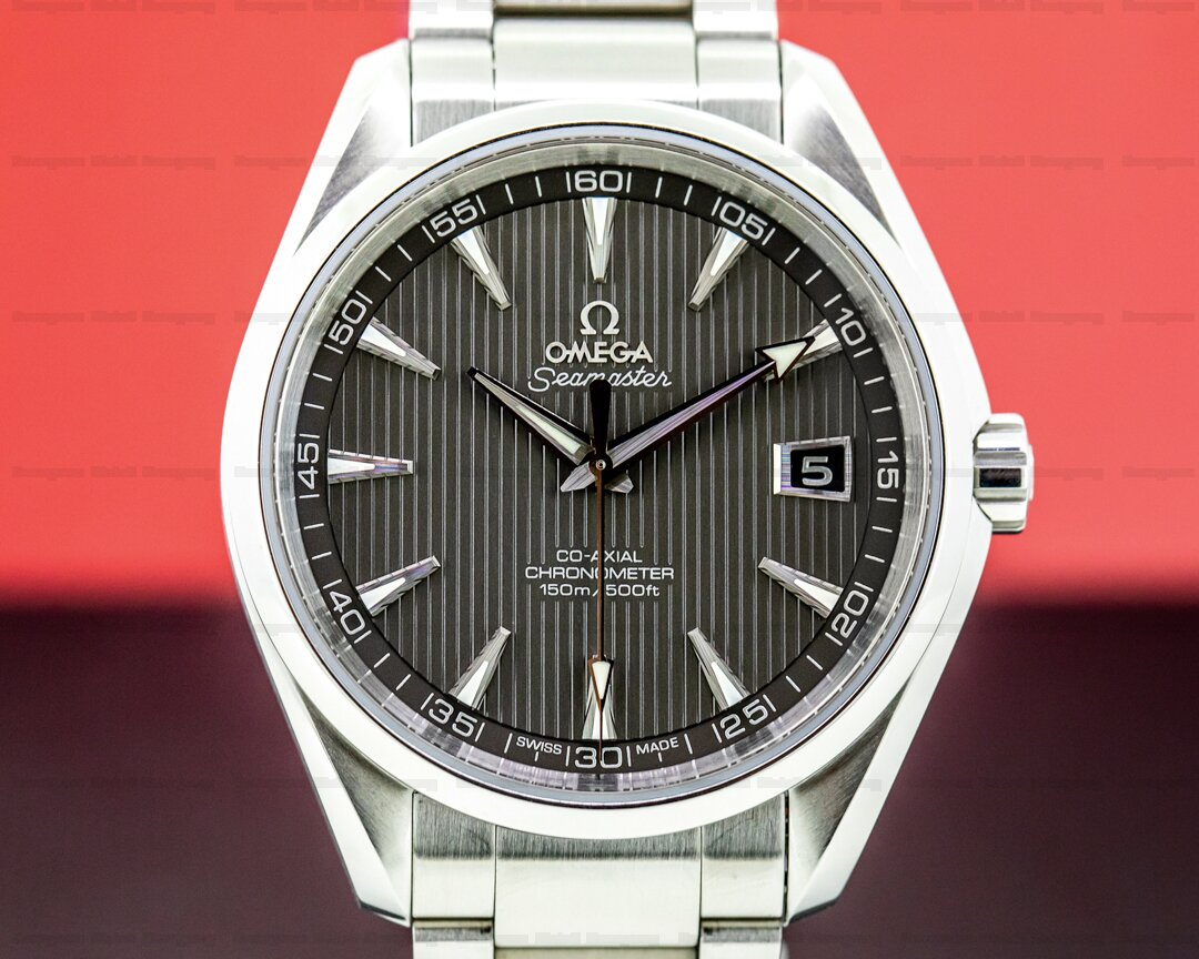Omega Aqua Terra Co-Axial Chronometer Grey Dial SS/SS Ref. 231.10.42.21.06.001