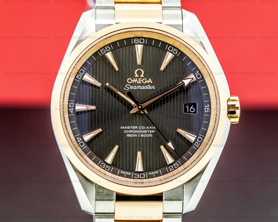 Omega Aqua Terra Co-Axial Chronometer 18k Rose Gold / SS Ref. 231.20.42.21.06.003