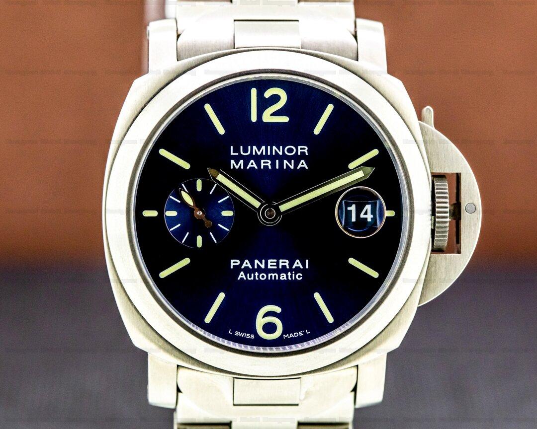 Panerai Luminor Marina Titanium 40mm Blue dial. Ref. PAM00283