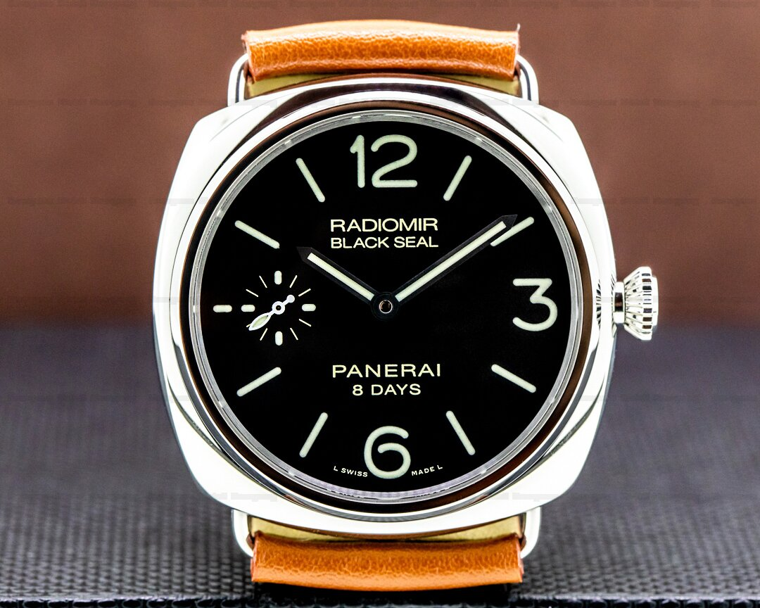 Panerai Radiomir Black Seal 8 Day Manual Wind Stainless Steel Ref. PAM00609