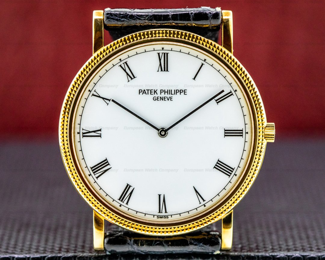 Patek Philippe Calatrava 18K Yellow Gold Manual Wind Silver Roman Dial SHARP Ref. 3520