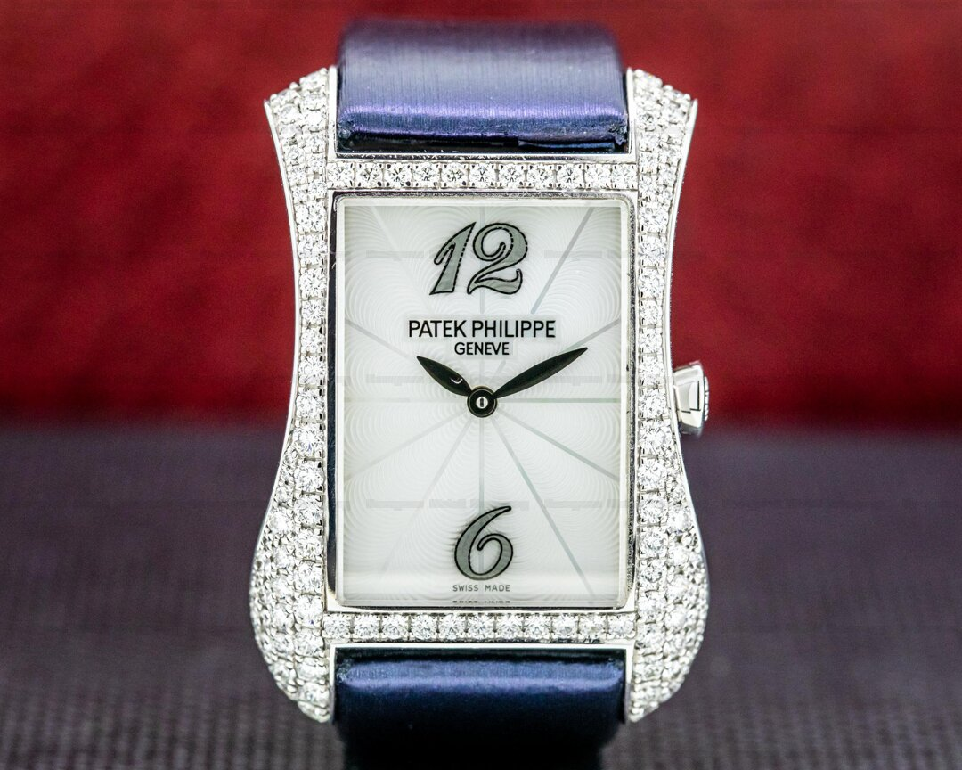 Patek Philippe Ladies Gondolo Serata 4972G 18K WG Diamonds Ref. 4972G-001