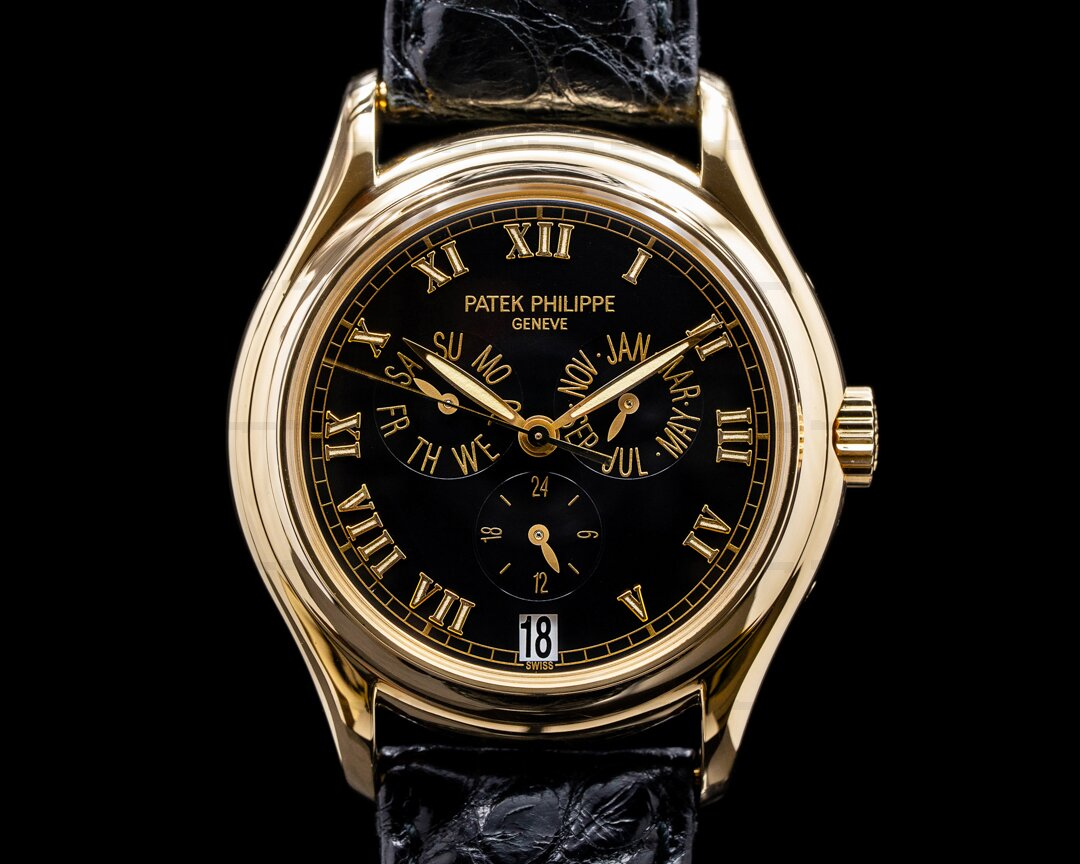 Patek Philippe 5035J Annual Calendar Black Dial Yellow Gold Ref. 5035J-020