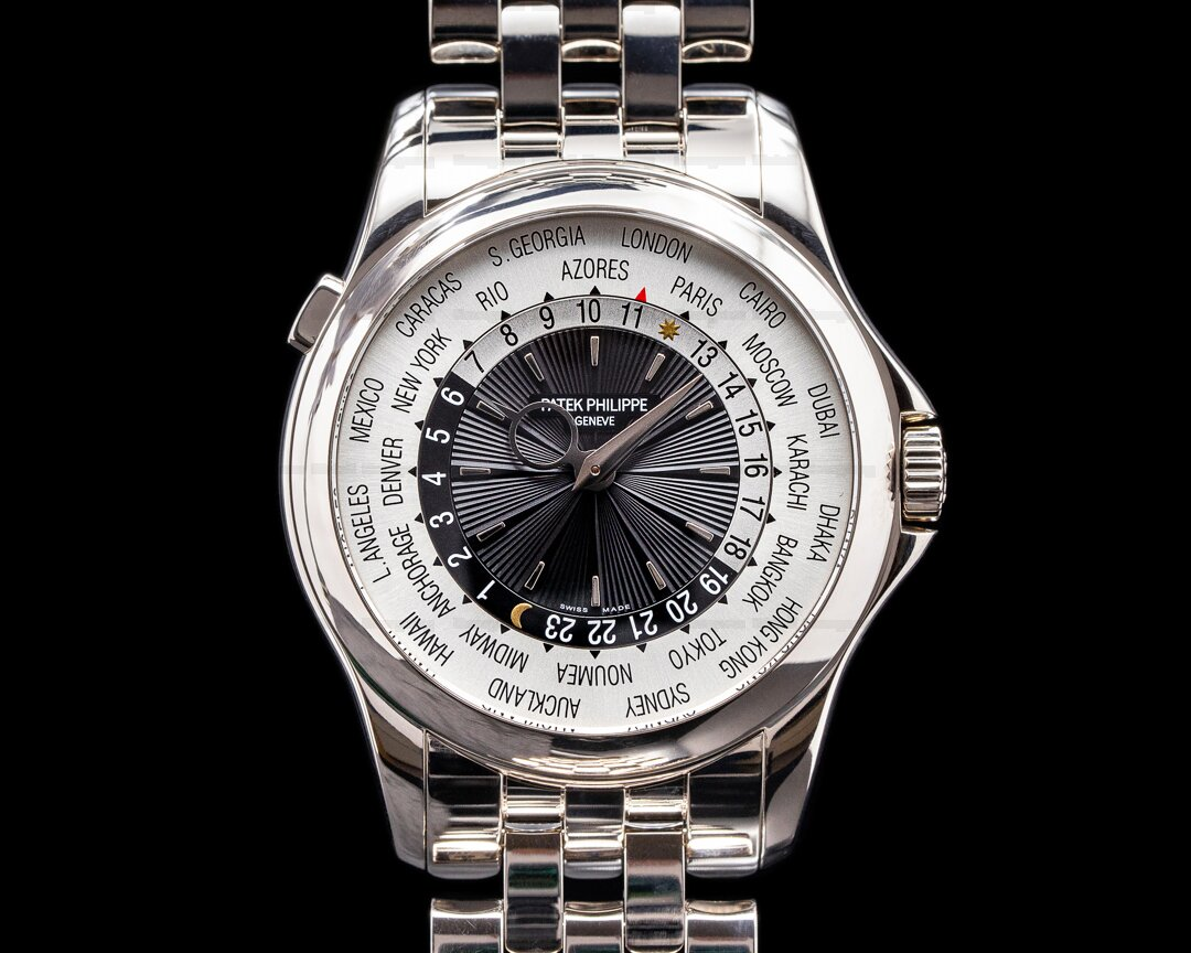 Patek Philippe World Time 5130/1G 18K White Gold / 18K White Gold Bracelet Ref. 5130/1G-011