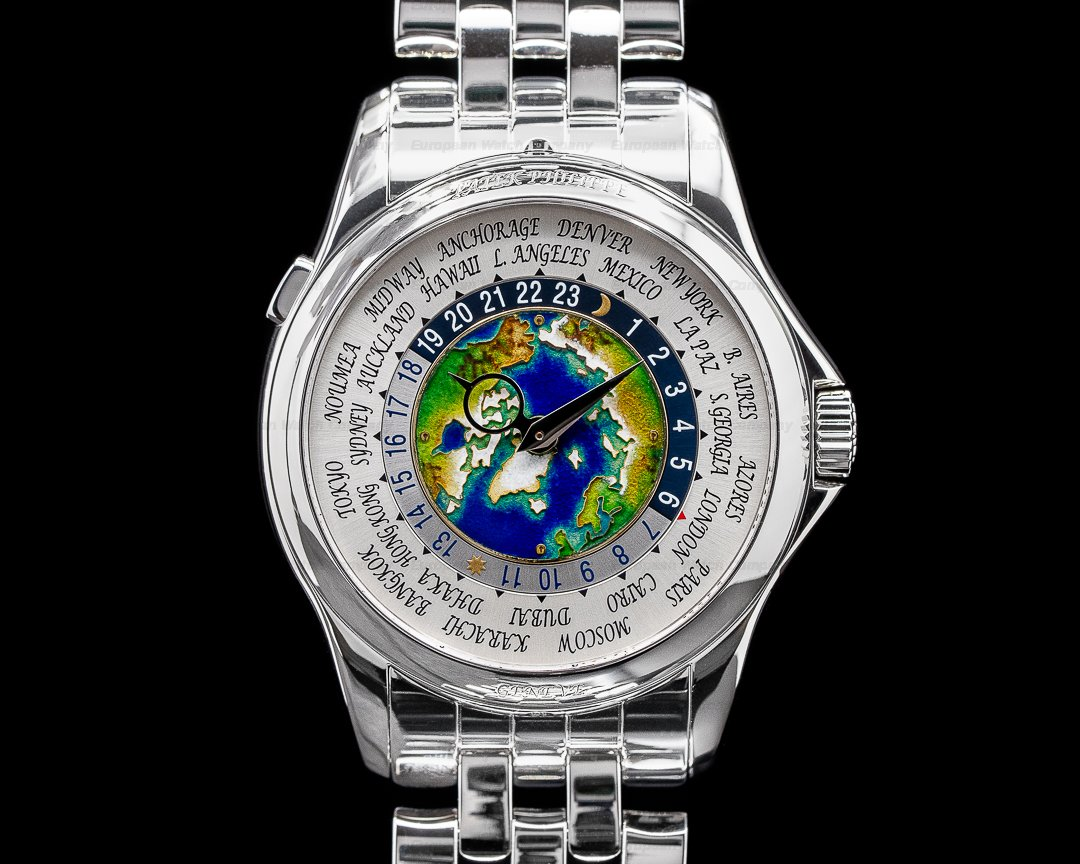 Patek Philippe World Time 5131P Enamel Dial Platinum DISCONTINUED 2019 Ref. 5131/1P-001