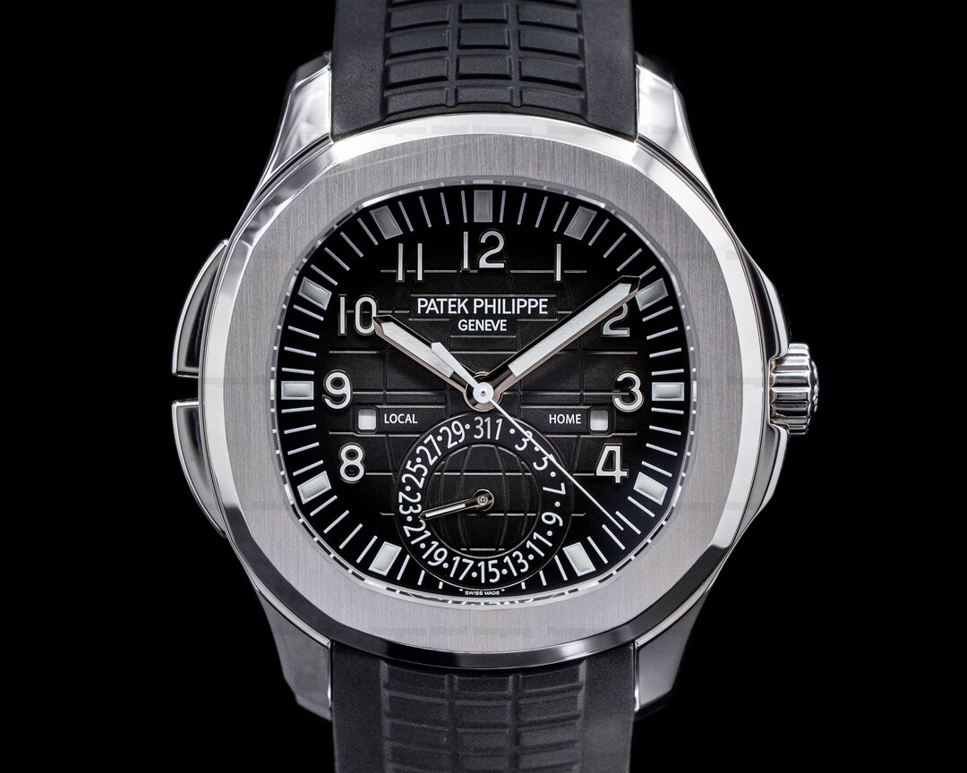 (37831) Patek Philippe 5164A-001 Aquanaut 5164A Travel Time SS \/ Rubber 2020