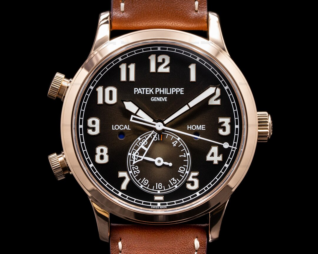 Patek Philippe Calatrava 5524R Pilot Travel Time 18k Rose Gold 2020 Ref. 5524R-001