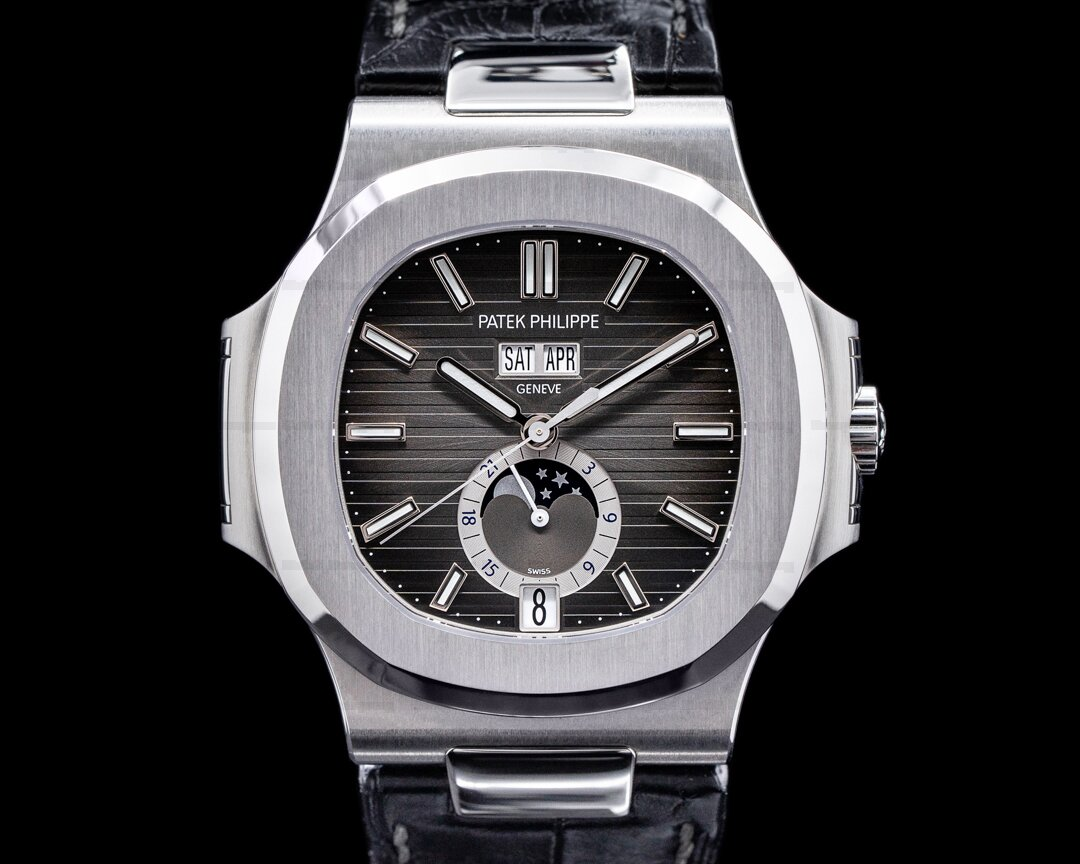 Patek Philippe Nautilus Annual Calendar 5726 Moon SS Grey Dial FULL SET 2019 Ref. 5726A-001