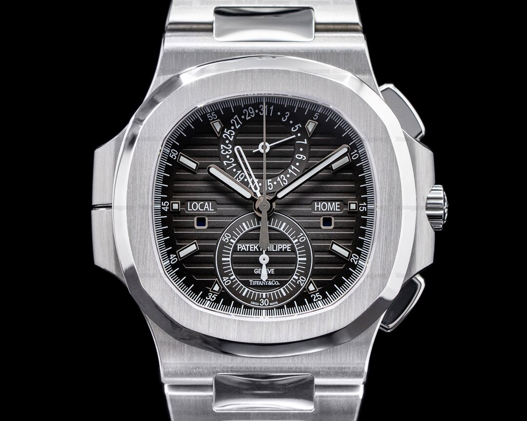 Patek Philippe Nautilus 5990 TIFFANY & CO Travel Time Chronograph GMT FULL SET Ref. 5990/1A-001 TIFFANY