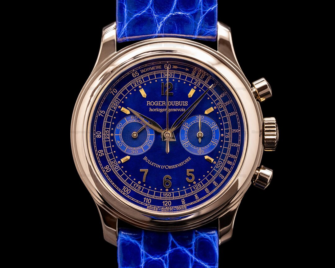 Roger Dubuis Hommage Chronograph H40 AMAZING BLUE DIAL RARE Ref. H40 560