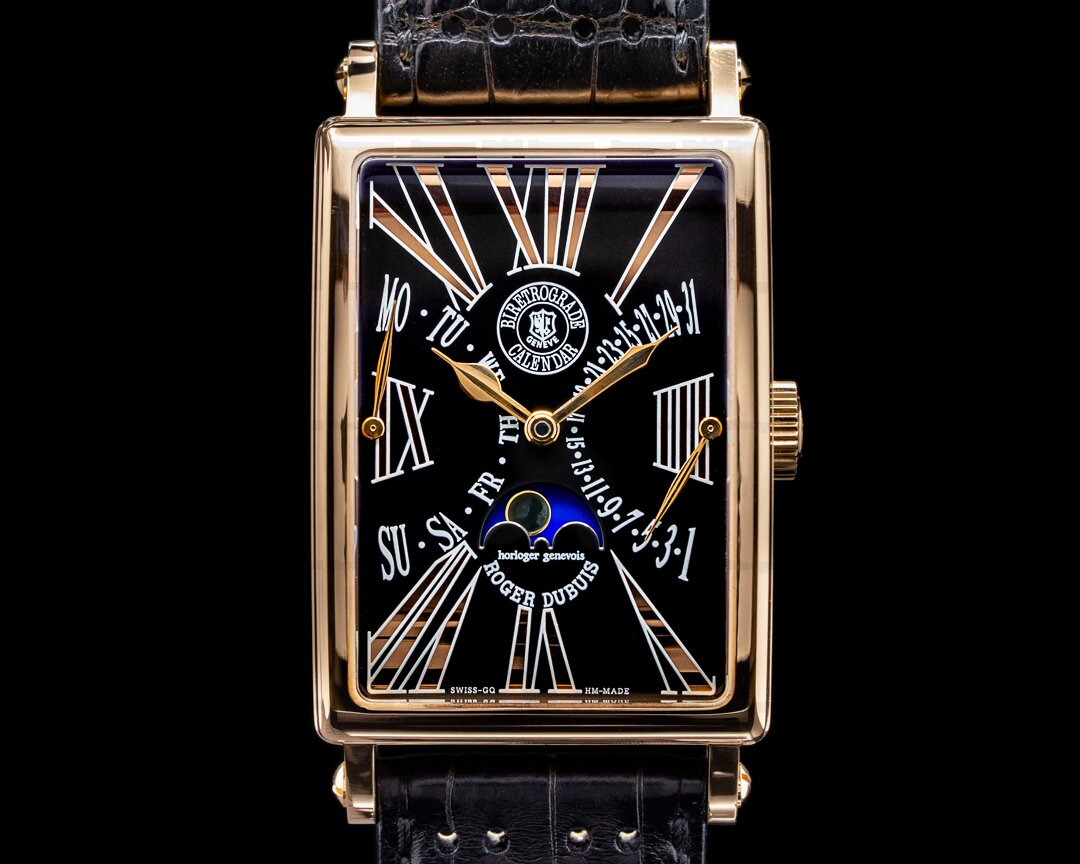 Roger Dubuis Much More Bi-Retrograde Calendar 18K Rose Gold FULL SET Ref. M34 5740 5