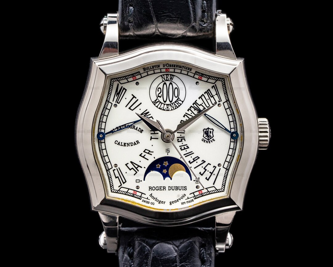 Roger Dubuis Sympathie 2000 New Millenary Bi-Retrograde Calendar Moon RARE FULL SET Ref. S34.5740.0