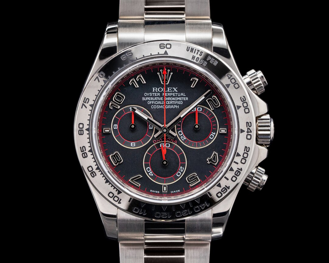 Rolex Daytona Slate Arabic Racing Dial 18K White Gold LIKE NEW Ref. 116509