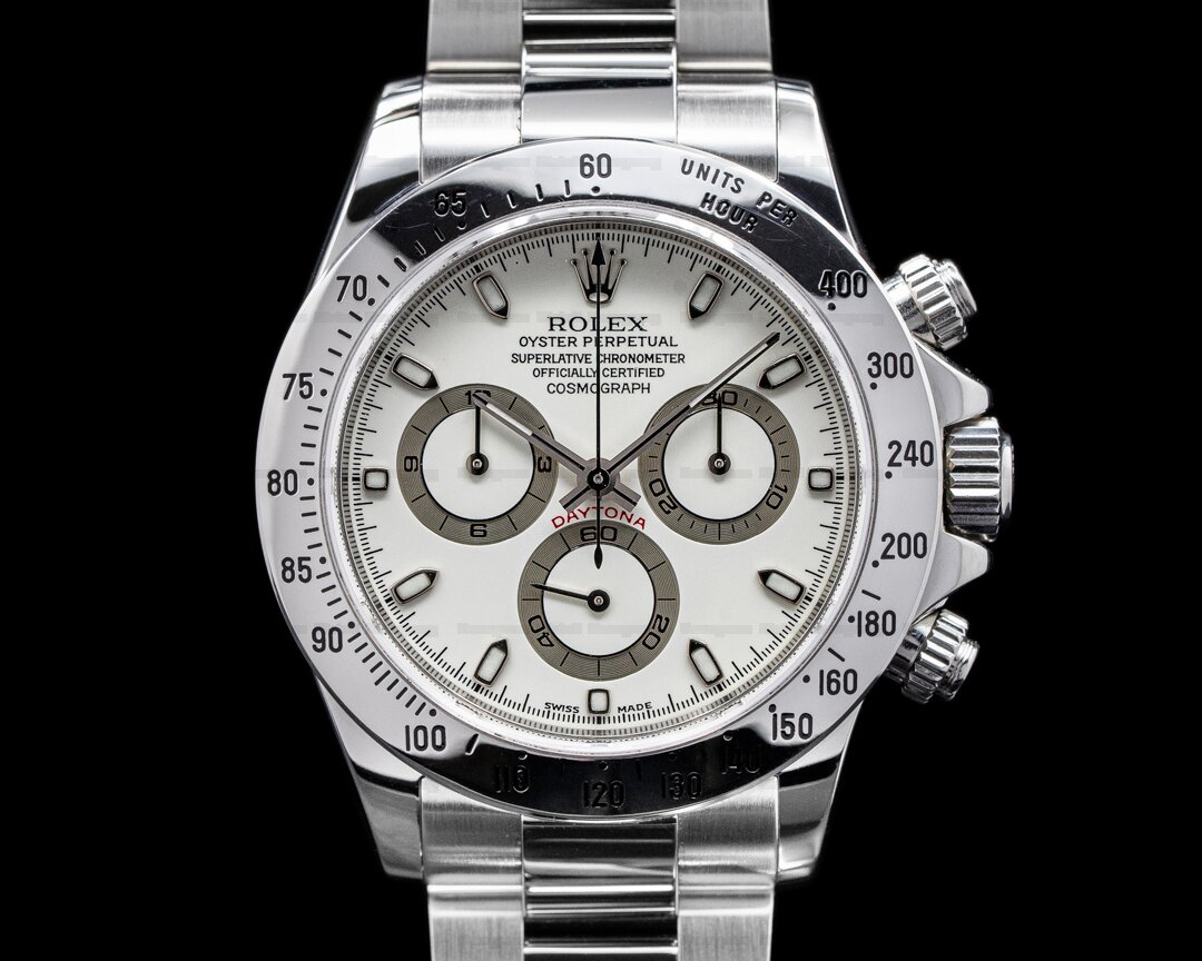 Rolex Daytona 116520 White Dial SS FULL SET PANNA CREAM DIAL WOW Ref. 116520