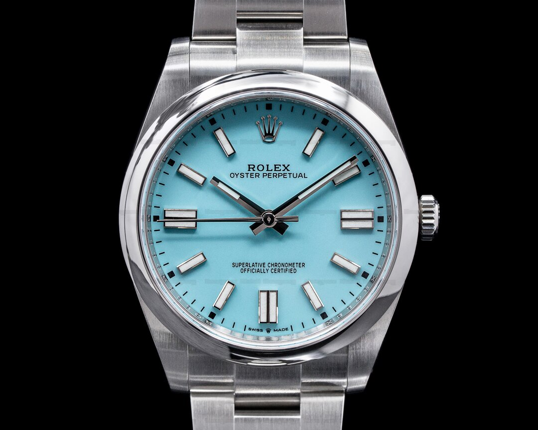 Rolex Oyster Perpetual 124300 41mm SS / Turquoise Blue Dial 2020 Ref. 124300