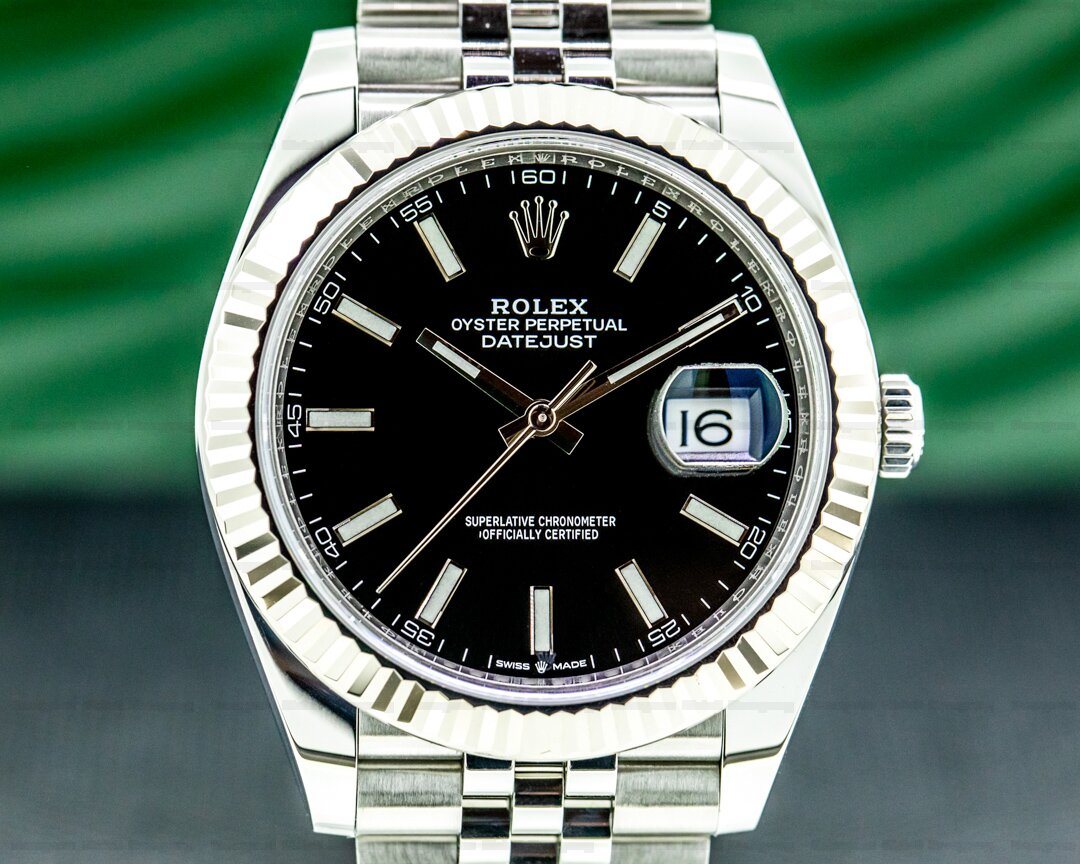 Rolex Datejust 41 Black Stick Dial SS / Jubilee Ref. 126334