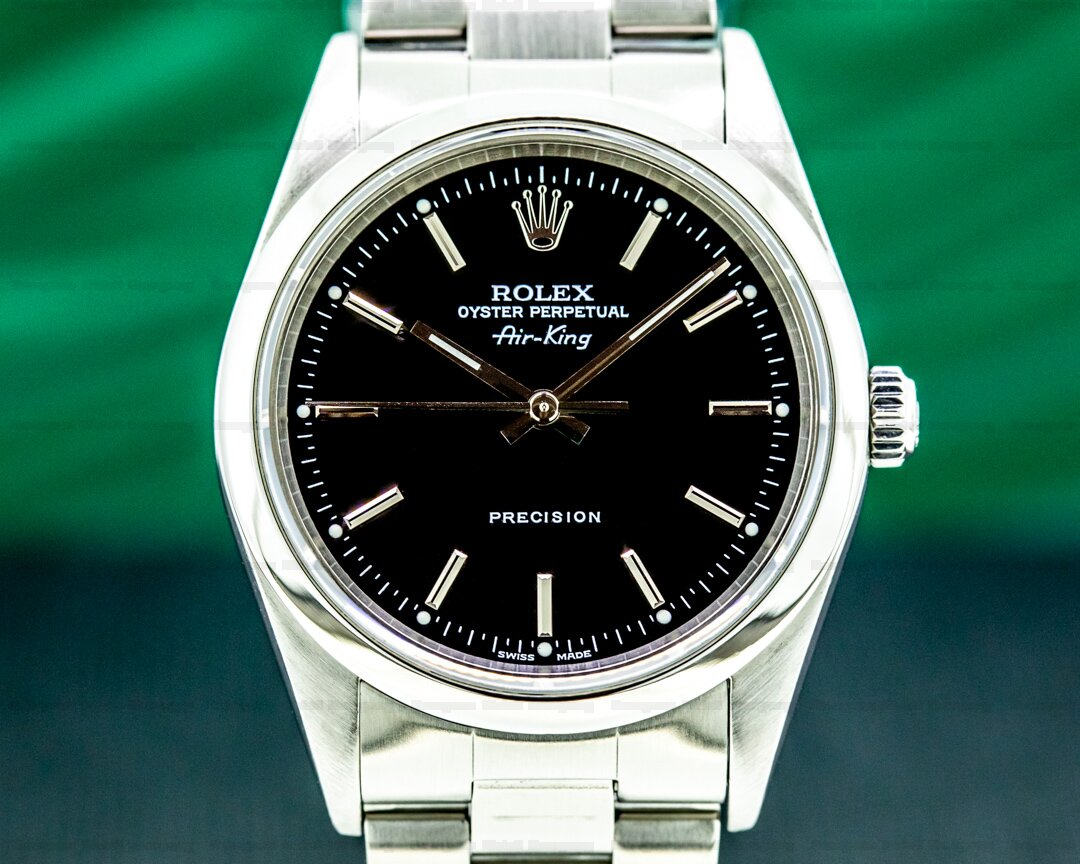 Rolex Air King Black Dial SS Ref. 14000M