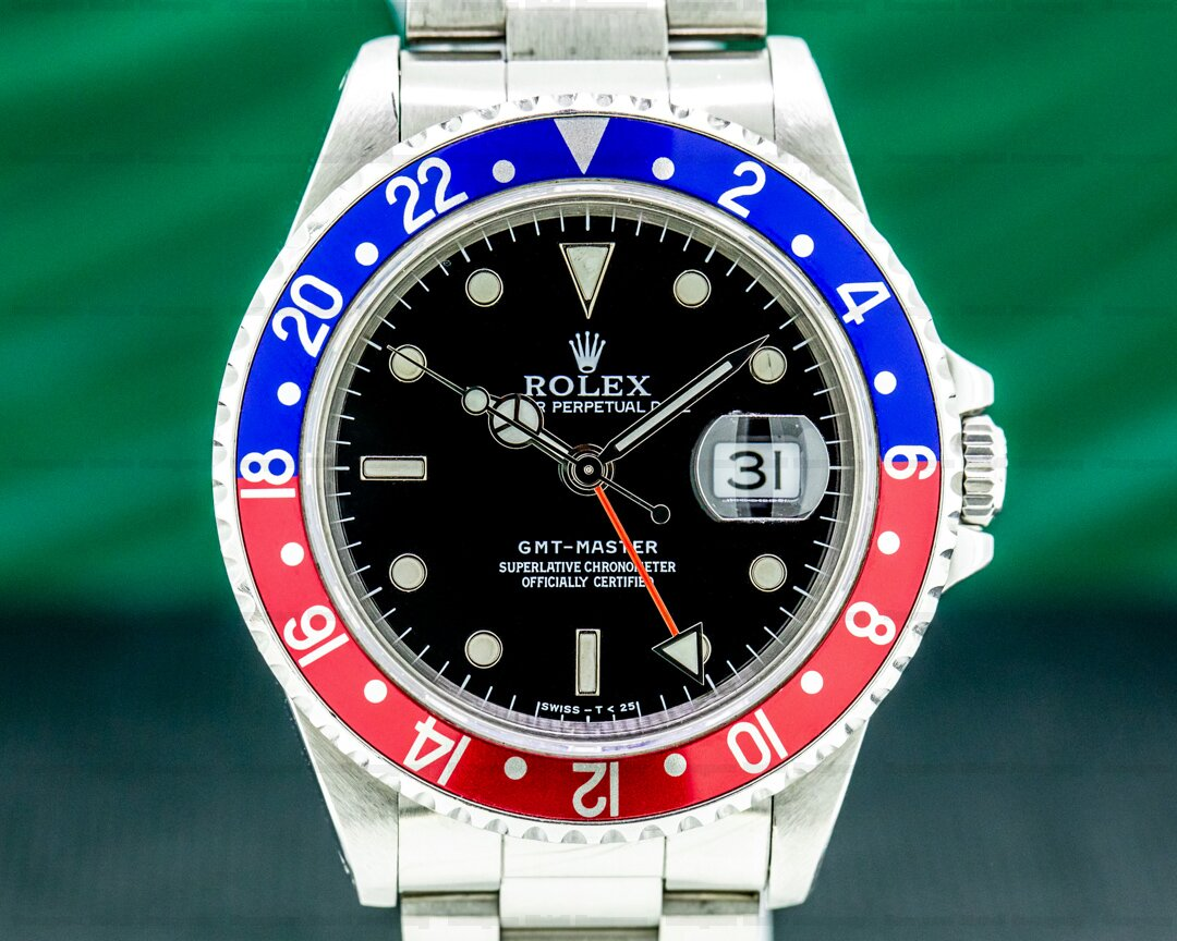 Rolex 16700 GMT Master Red / Blue Pepsi Bezel Transitional NICE Ref. 16700