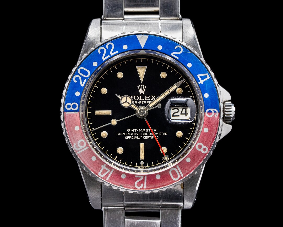 Rolex GMT Master Gilt Chapter Ring Exclamation FULL SET Ref. 1675
