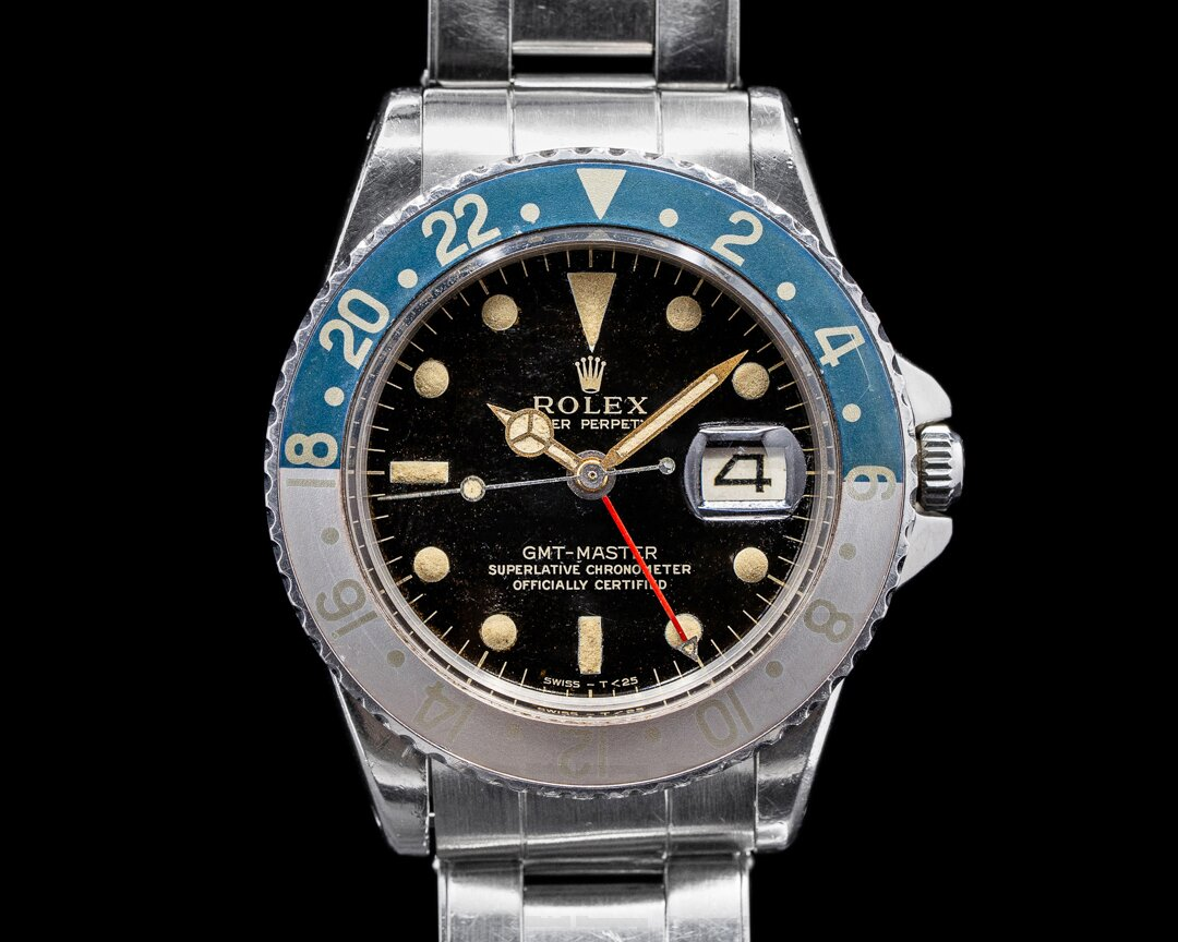 Rolex Vintage GMT Master Gilt Gloss PCG Military Provenance 1964 Ref. 1675