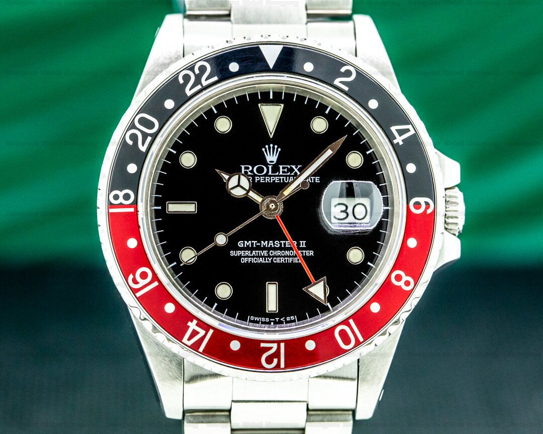 Rolex GMT Master FAT LADY Red / Black 1988 FULL SET Ref. 16760 FAT LADY