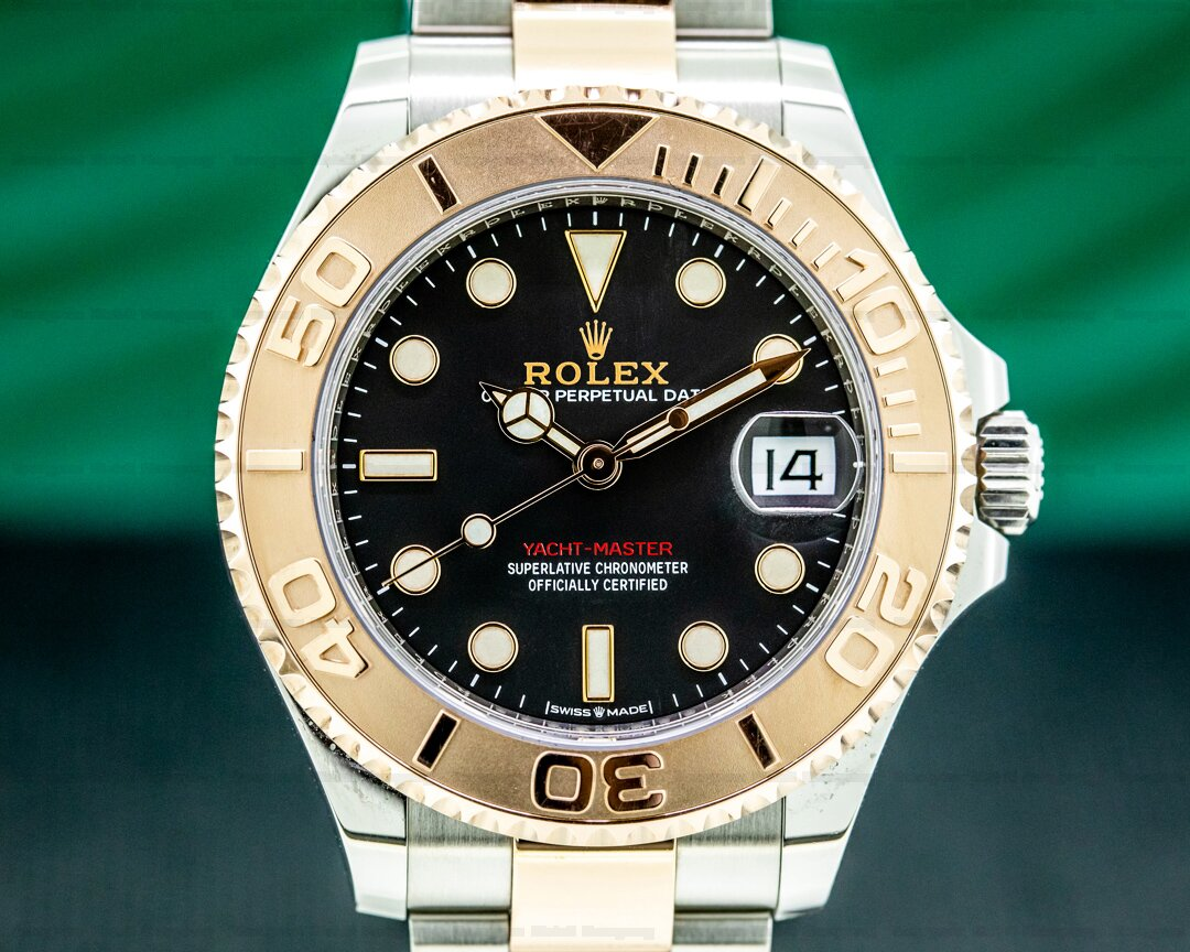 Rolex Yachtmaster Midsize 18K Rose Gold / SS Black Dial 2020 Ref. 268621