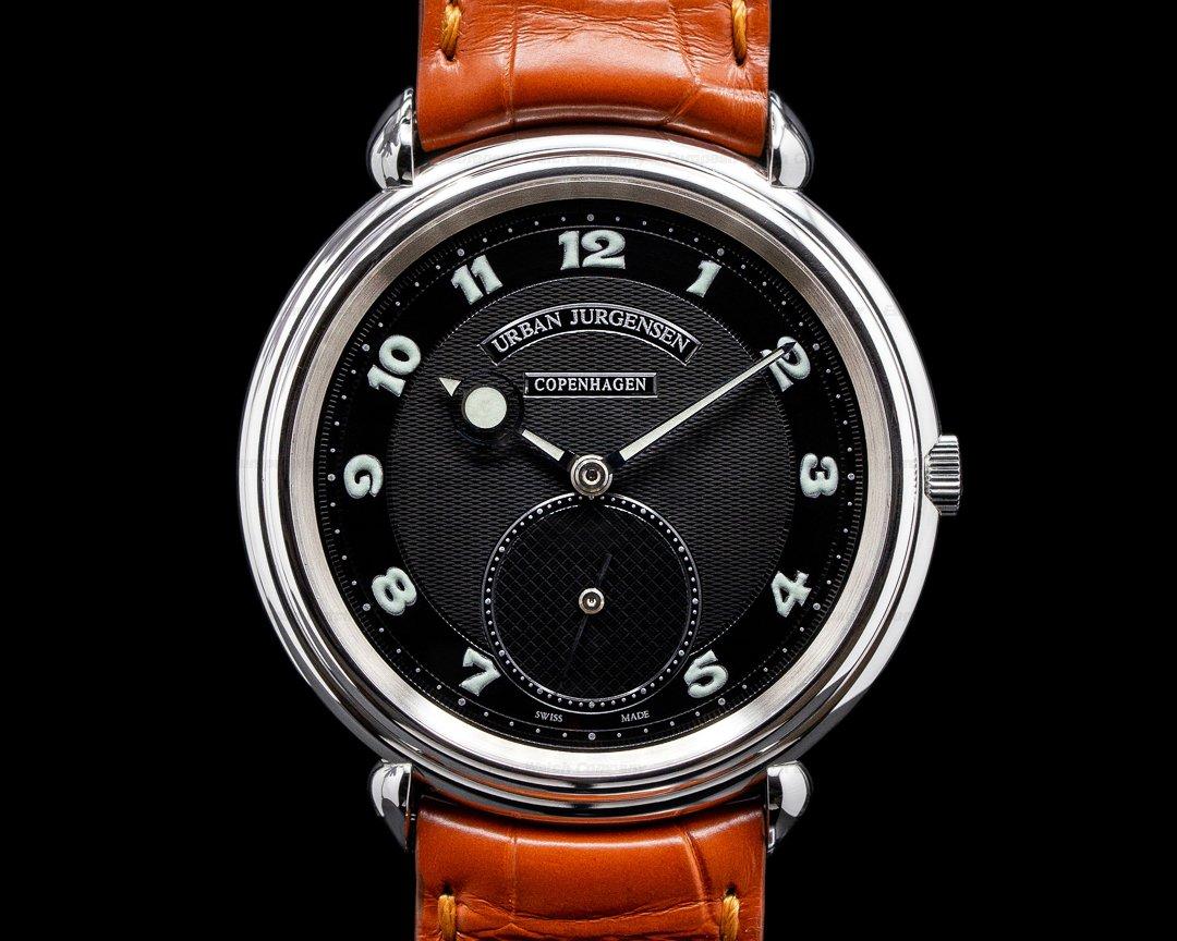 Urban Jurgensen 1140L Stainless Steel Black dial Big 8 Aviator Ref. 1140L Big 8 Aviator