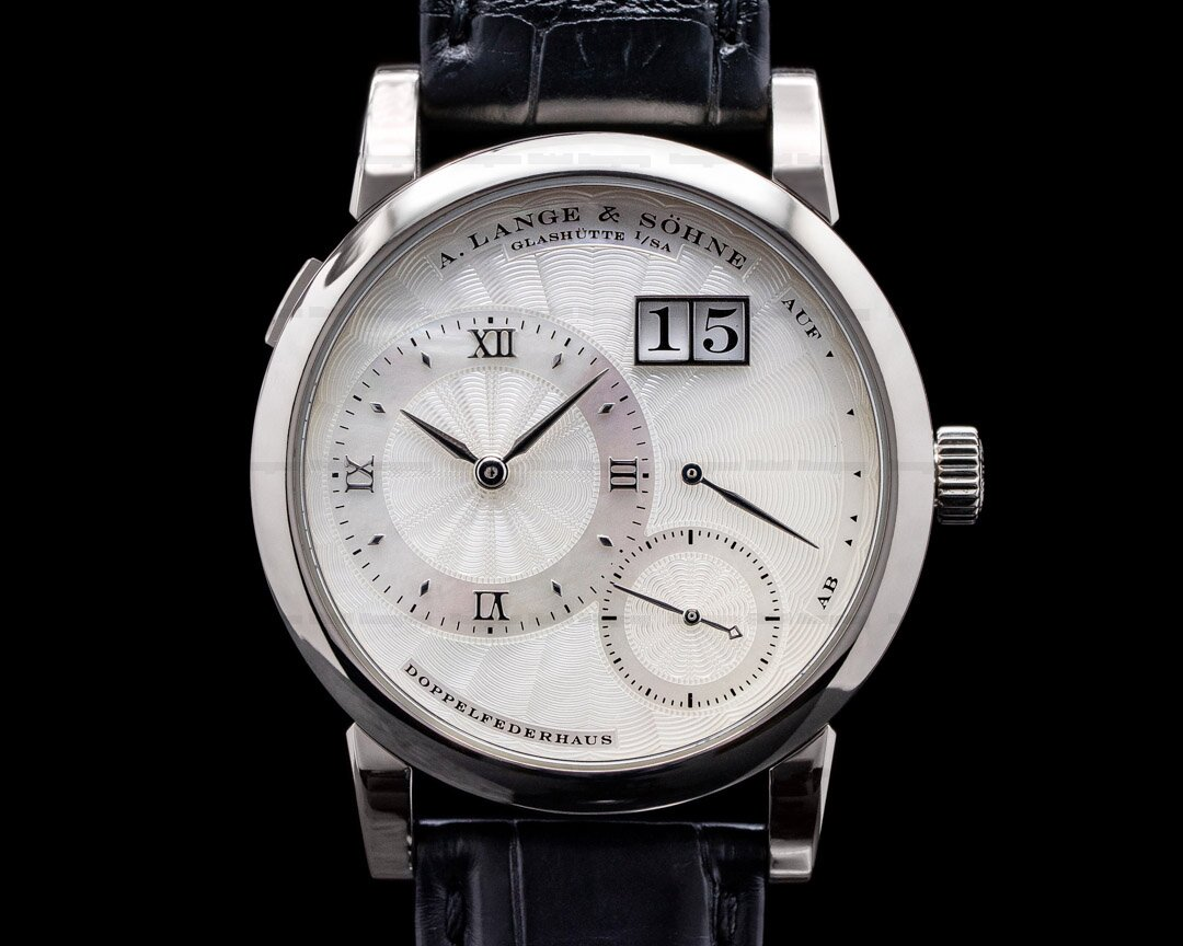 A. Lange and Sohne Lange 1 Soiree 110.030 White Gold Mother of Pearl Dial RARE Ref. 110.030
