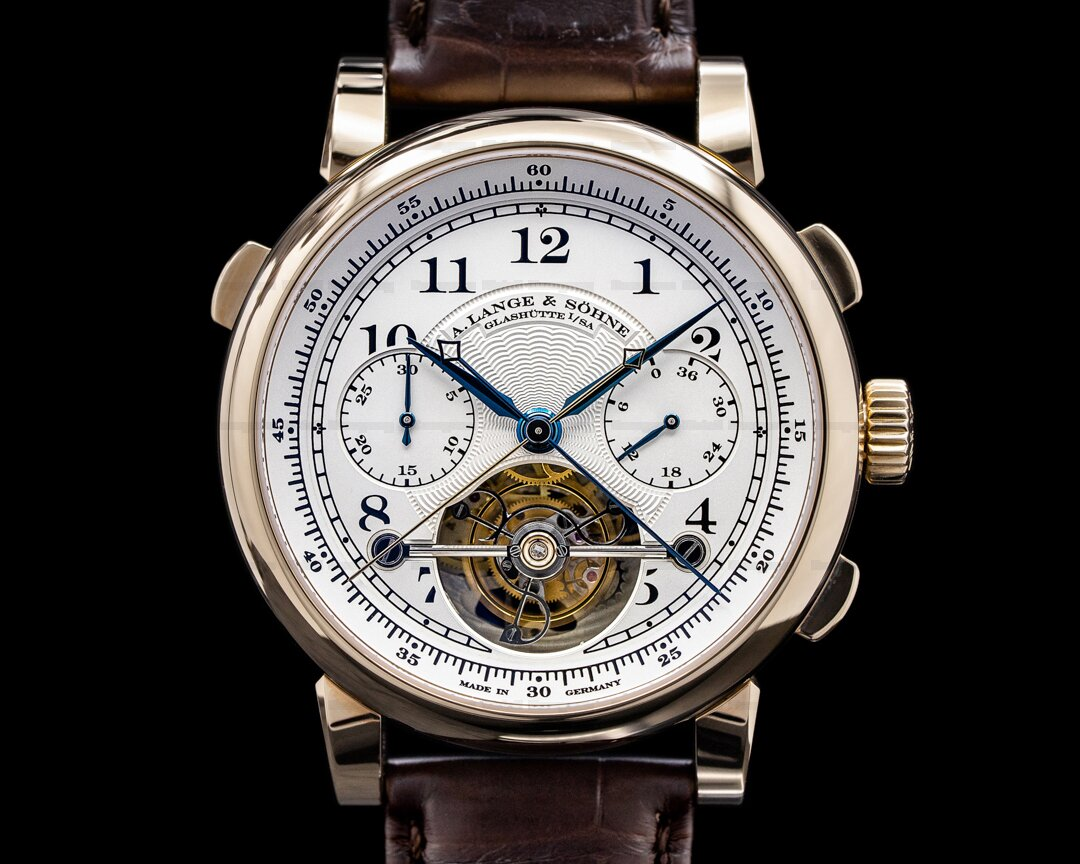 A. Lange and Sohne Tourbograph Pour Le Merite F.A. Lange Homage 165th Anniversary HONEY Ref. 712.050