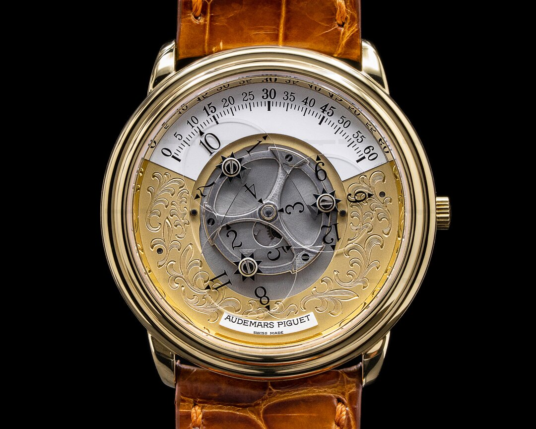 Audemars Piguet Star Wheel Automatic Engraved Dial 18K Yellow Gold NICE Ref. 25720BA/O/0002