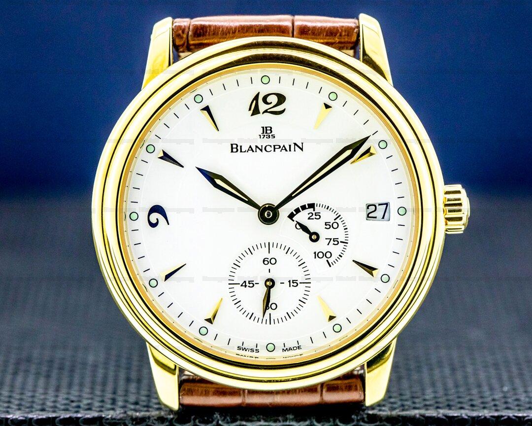 Blancpain Villeret Ultra Slim Power Reserve 18k YG White Dial Ref. 1106-1418-55
