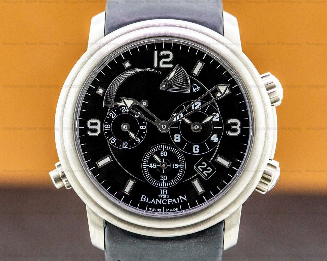 Blancpain Leman Alarm GMT Titanium / Strap Ref. 2041-1230-64B
