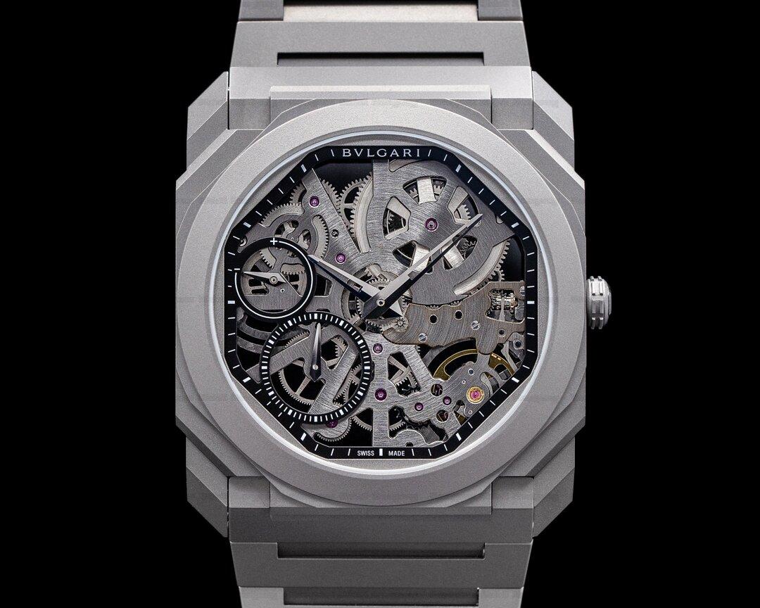 Bvlgari Octo Ultranero Finissimo Skeleton Titanium + Bracelet! Ref. 102714