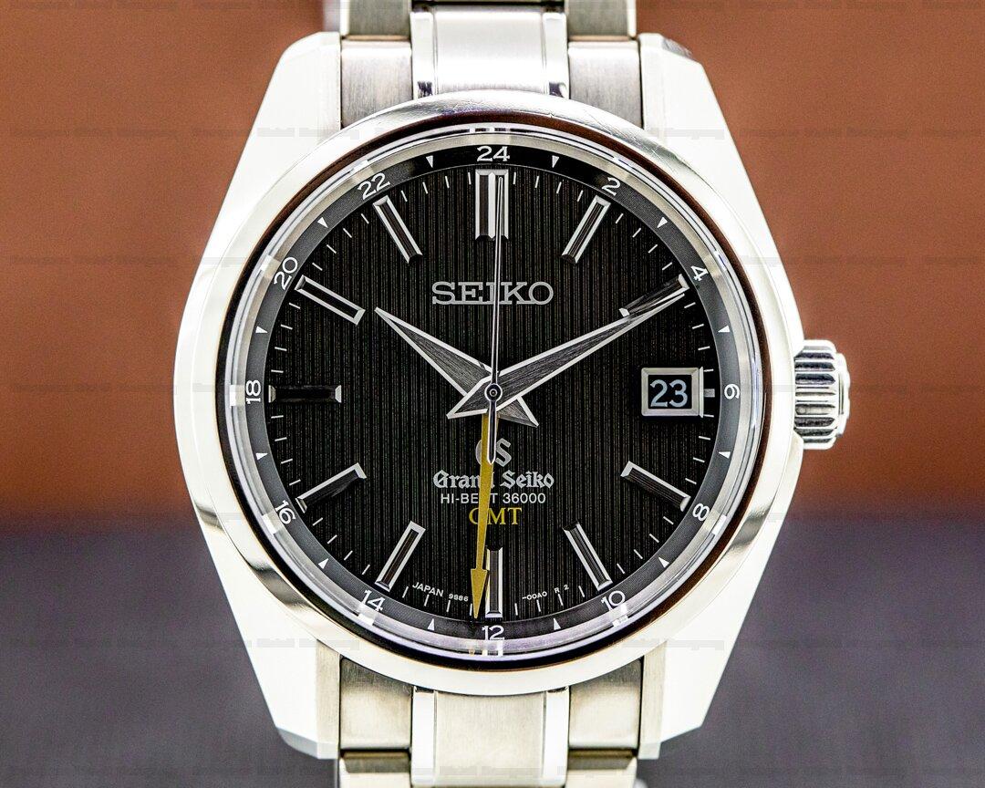 Grand Seiko Grand Seiko Hi Beat 36000 GMT Automatic Titanium / Black Dial Ref. SBGJ013