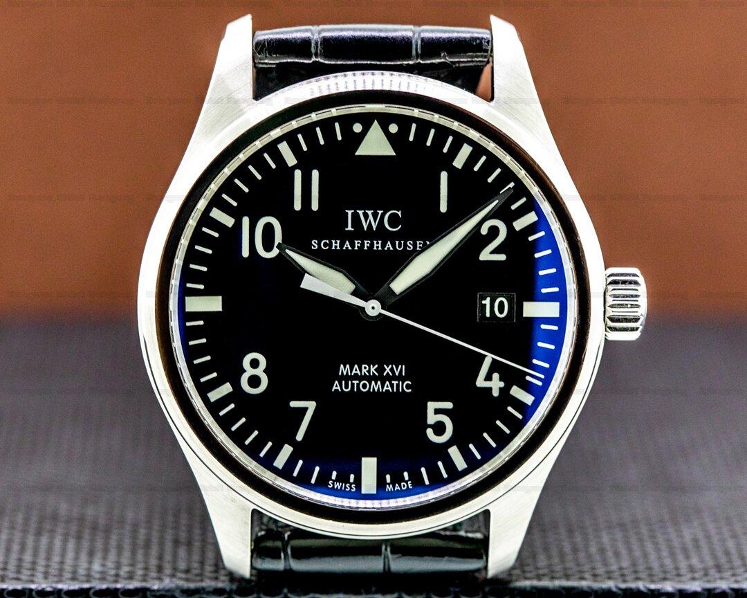 IWC Mark XVI Black Dial SS/Alligator Ref. IW325501