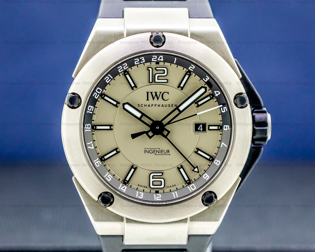 IWC Ingenieur IW326403 Dual Time Titanium / Rubber UNWORN Ref. IW326403